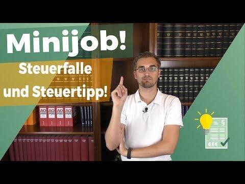Steuerfalle Minijob Und Ein Steuertipp!
