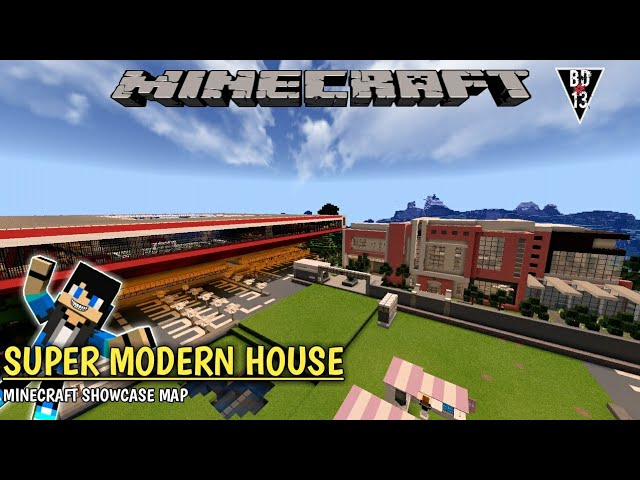 SHOWCASE MODERN HOUSE KIRIMAN DARI ERLANGGA - MCPE - MINECRAFT SHOWCASE MAP