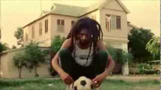 Bob Marley  playing  Football at 56 Hope Road, Kingston, JA