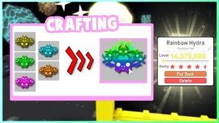 Fabricación RAINBOW HYDRA en el simulador de mascotas (actualización 10) Roblox!