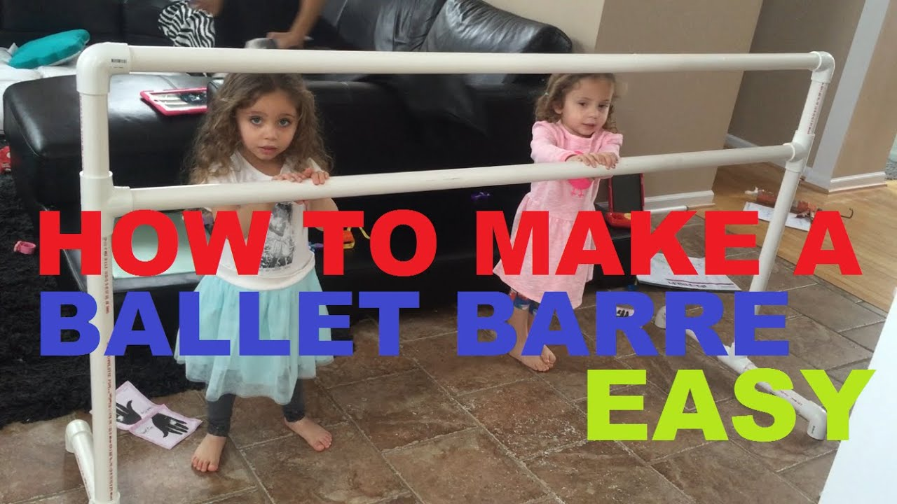 How To Make A Ballet Barre With Pvc Pipe bar - YouTube