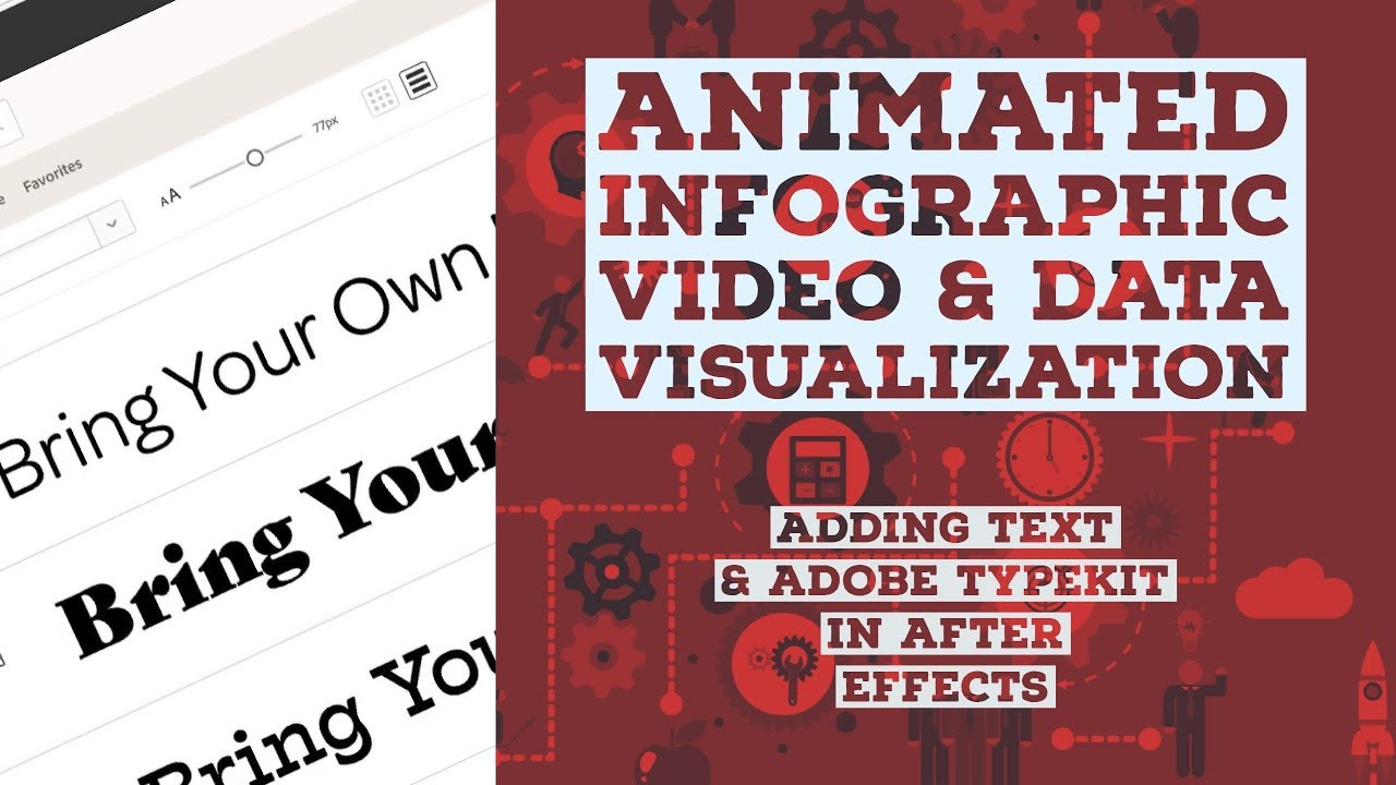 Adding text & Adobe TypeKit in After Effects - Animated ...