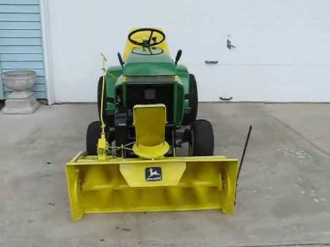 hqdefault 1975 john deere 210 lawn tractor with model 37a snowblower youtube John Deere 300 Lawn Tractor Wiring Diagram at virtualis.co