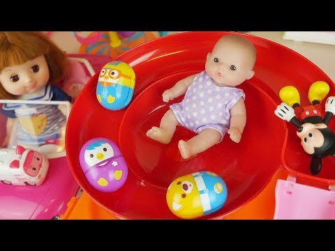 Thumbnail: Baby doll car and slide park egg toys play