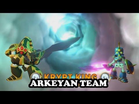 Skylanders Imaginators - Krypt King & Elite Chop Chop GAMEPLAY - ARKEYAN TEAM