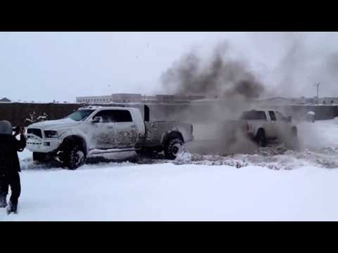 FORD VS. DODGE TUG OF WAR (MUST WATCH) (DieselSellerz)