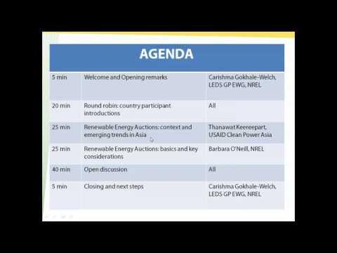 GRE CoP Session 5  Renewable Energy Auctions 31 10 2018