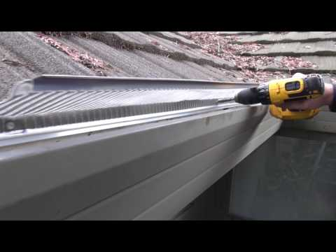 Installing Stainless Steel Gutter Guards on soft metal roof