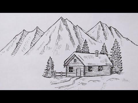 Как нарисовать пейзаж Легко   Простые рисунки