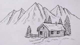 как рисовать карандашами? Рисунок карандашами! Деревня!