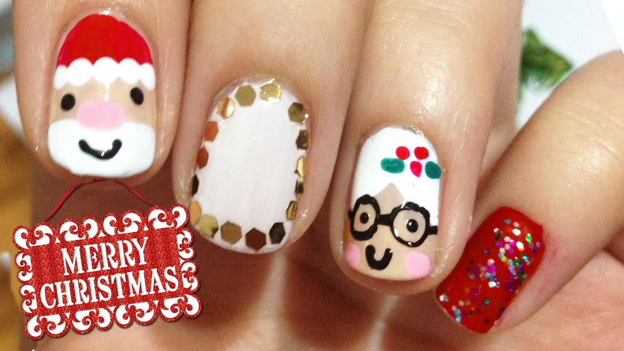 Mr Mrs Claus Nails 12 Days Of Christmas Nail Art Challenge
