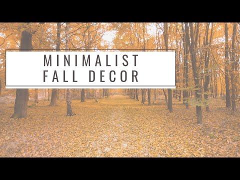 Minimalist Fall Decor