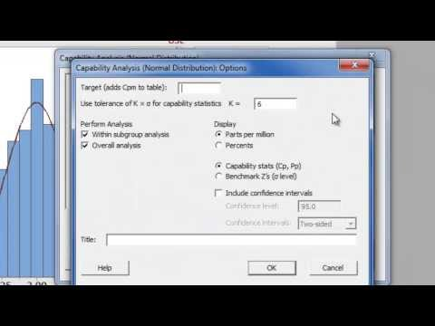 How to Assess Process Capability using Minitab 17