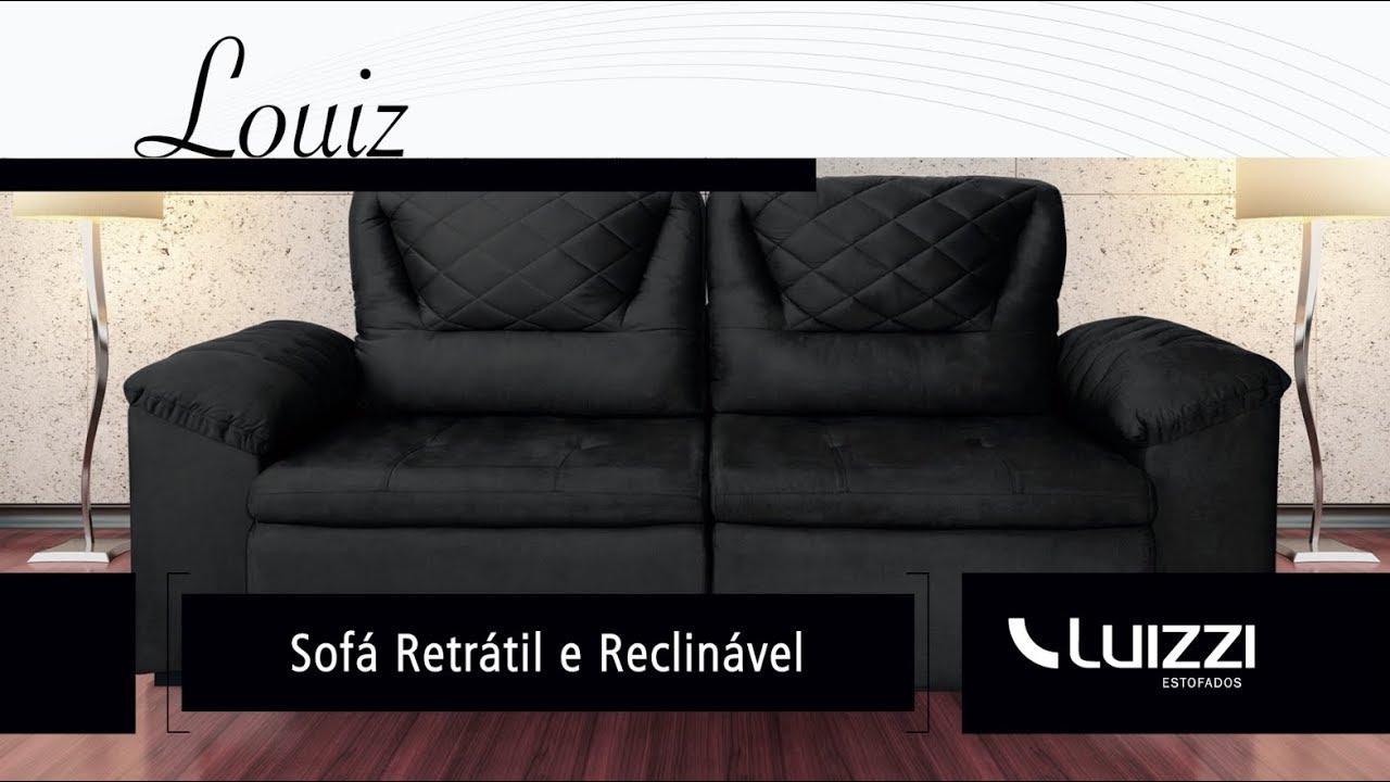 Louiz Sofa Retratil E Reclinavel Youtube