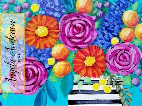 Easy roses acrylic painting quick tip how to paint an for Easy way to paint a rose