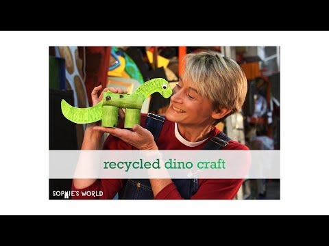 Recycled Dinosaur Craft | Sophie's World