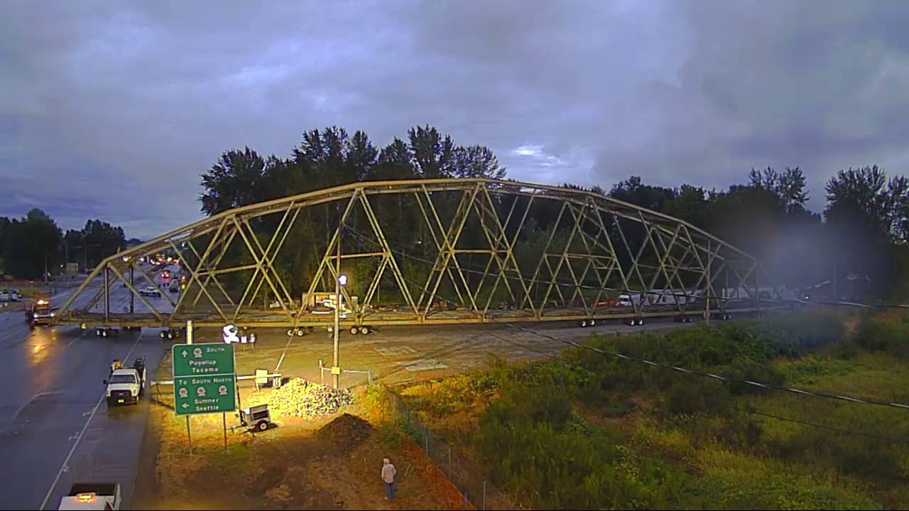 WATCH: The Puyallup River Bridge on the move