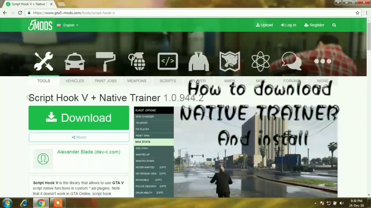 GTA 5 NATIVE TRAINER HOW TO DOWNLOAD AND INSTALL #GAMEPLAY