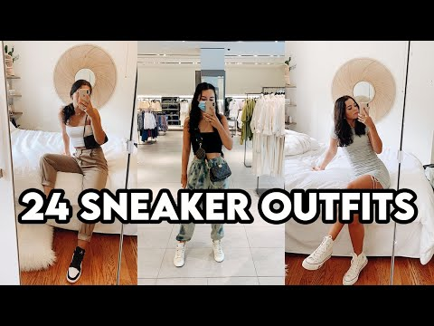 HOW TO STYLE SNEAKERS // Outfit Lookbook - YouTube