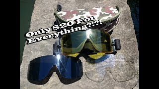 Elemart Tactical Airsoft Goggles Unboxing and Overview
