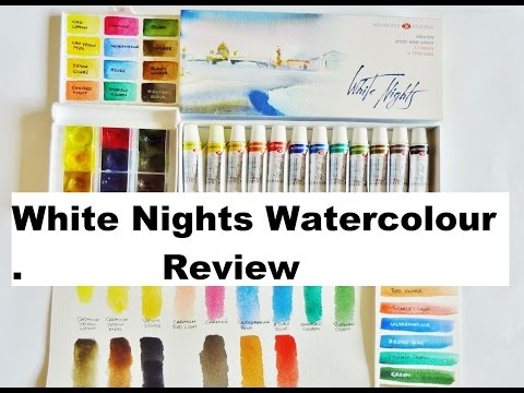 White Nights Watercolour Review, Tubes and Pans St Petersburg paints
