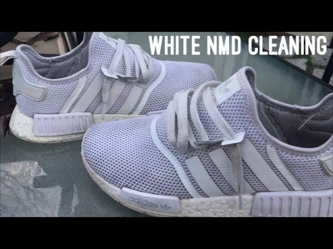 47788db07787 Triple White NMD Cleaning - YouTube