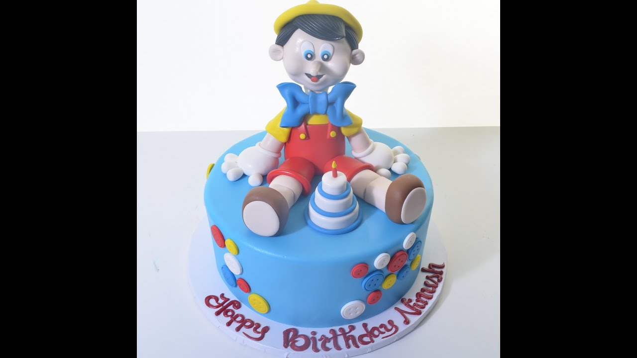 Pinocchio Shaped Birthday Cake 3D Cake Making YouTube