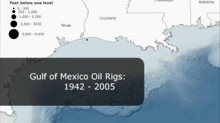 Gulf of Mexico Oil Rigs: 1942-2005