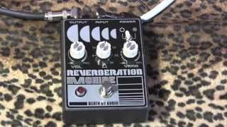 Death By Audio Reverberation Machine pedal demo with Dr Z Antidote