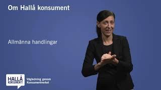 Teckenspråk - Om Hallå konsument