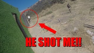 RAGING AIRSOFT TEAMMATE SHOOTS ME!!!