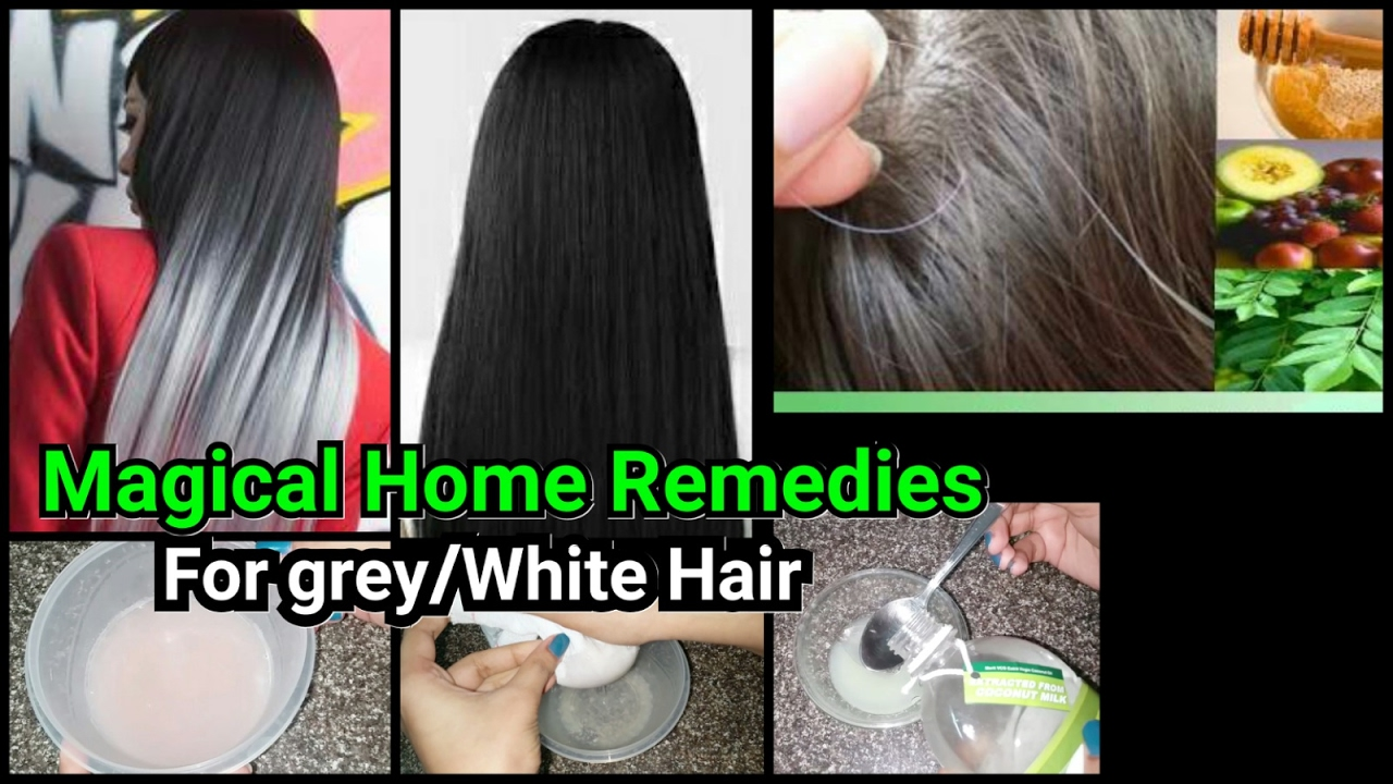 Magical Home Remedies for grey/white hair//Treatment to get rid of grey  hair/Indian hair