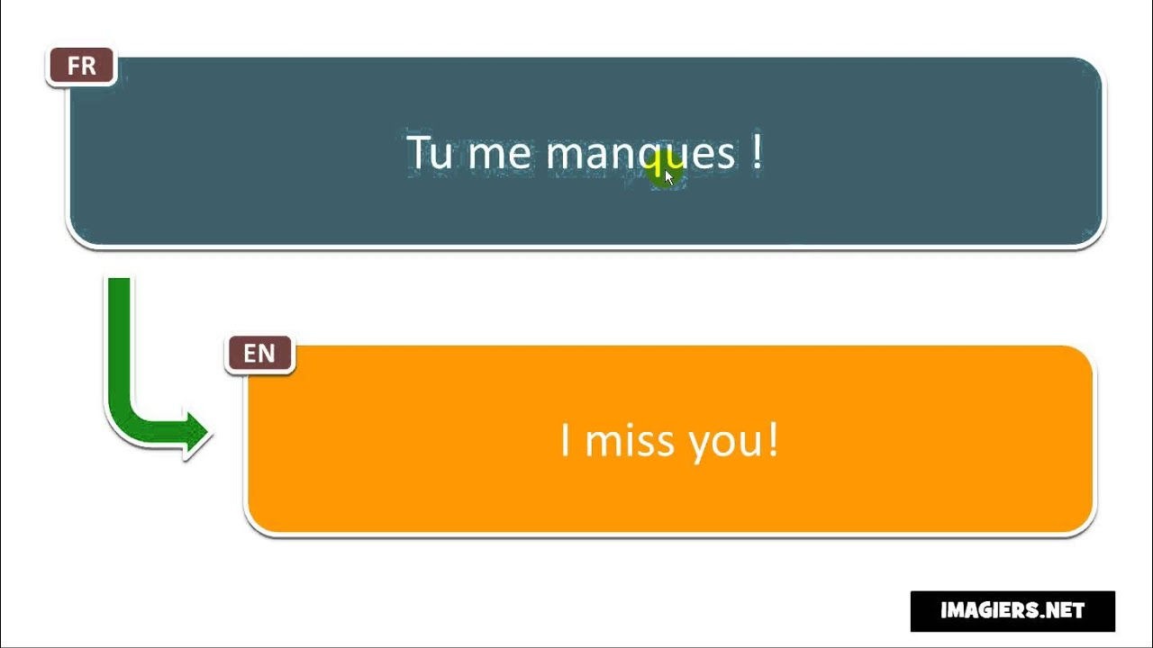 How to pronounce Tu me manques !
