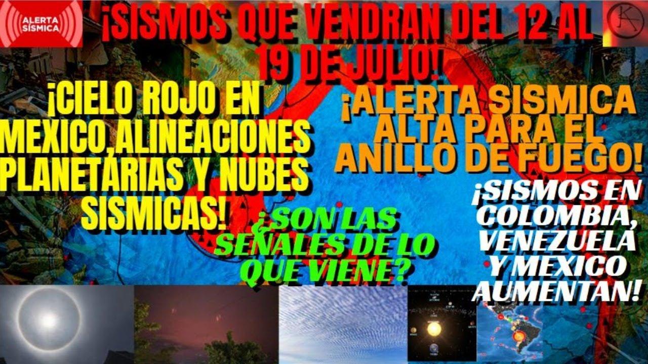 ¡ALERTA SÍSMICA ANILLO DE FUEGO!¡CIELO ROJO,NUBES  ALINEACIÓN PLANETARIA!SISMO VENEZUELA Y NICARAGUA