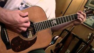 Bluegrass Guitar Lesson 4 -- Little Cabin Home
