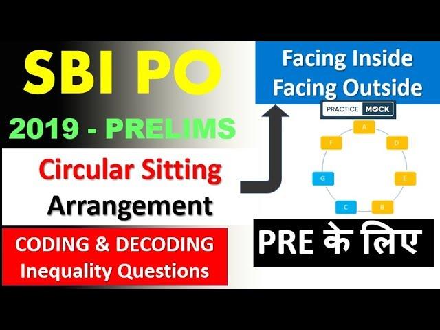 Inside Outside Circular Sitting Arrangement , Coding Decoding , Inequality  for SBI Prelim Exam