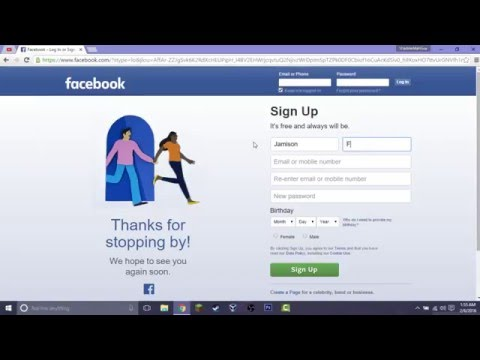 How to Sign up for Facebook Free 2016
