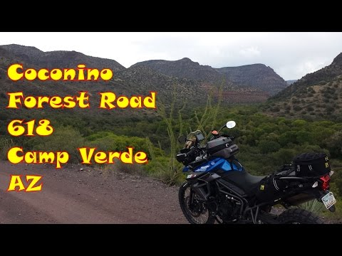 Coconino Forest Road 618 out of Camp Verde Arizona -  Triumph Tiger 800 XCx