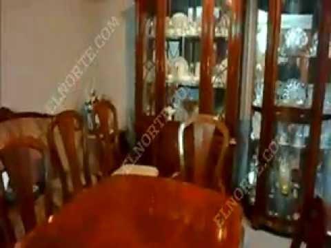 remato juego de comedor para 8 personas, vitrina con luz. - youtube