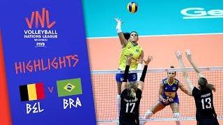BELGIUM Vs. BRAZIL - Highlights Women | Week 5 | Volleyball Nations League 2019