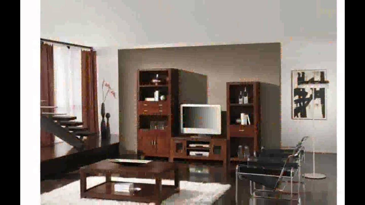 Muebles rusticos salon youtube for Muebles compactos salon