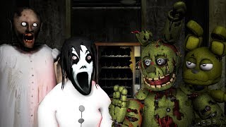 HOW TO MAKE SLENDRINA DUAGHTER OF GRANNY SLENDER FAMILY NOT SCARYVS SPRINGTRAP ADVENTURE SPRING T
