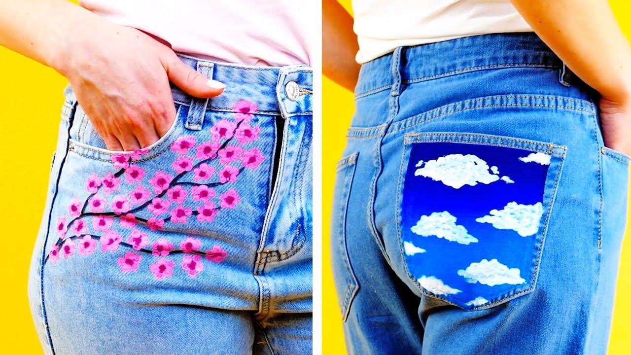26 Disenos De Jeans Diy Brillantes Y Faciles Youtube