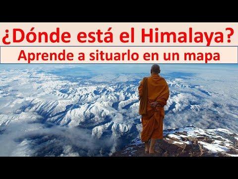 Cordillera Del Himalaya Mapa.Donde Esta El Himalaya Youtube