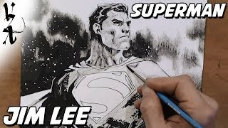 Jim Lee drawing Superman during Twitch stream