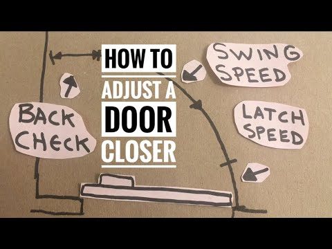 How To Adjust A Door Closer Speed Illustrated