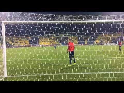 Goalkeeper warm up in Doha