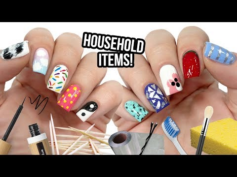 10 Nail Art Designs Using HOUSEHOLD ITEMS! | The Ultimate Guide #8