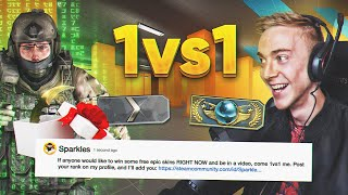 I challenged my viewers to 1vs1, for ST FN Tradeups!