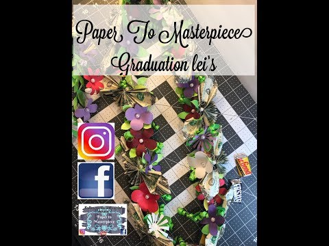 DIY - Paper flower Graduation lei's - Paper to Masterpiece